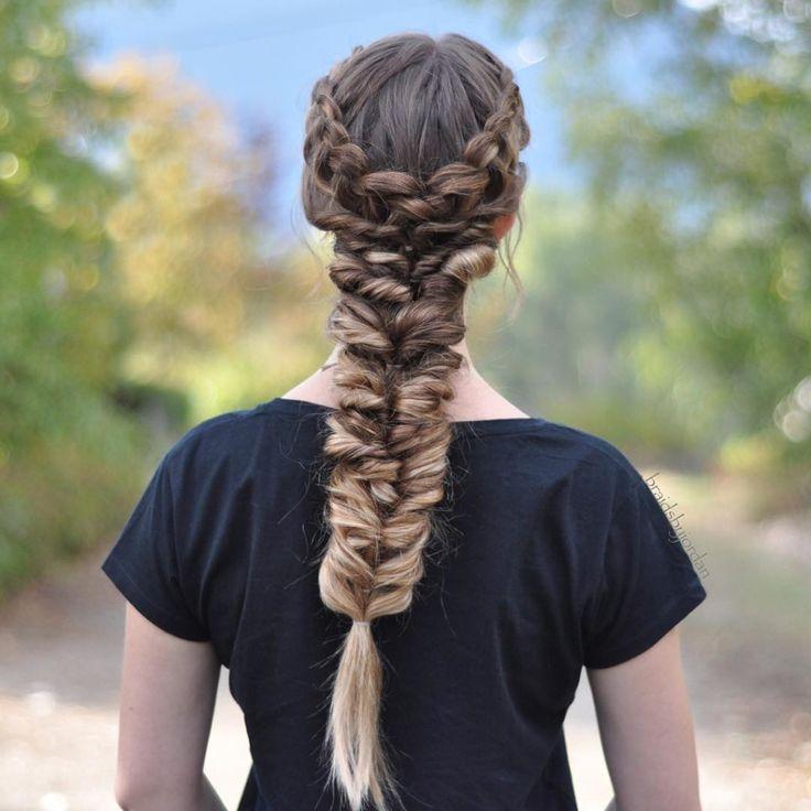 Drawn braid binibining On dutch 8 with braids