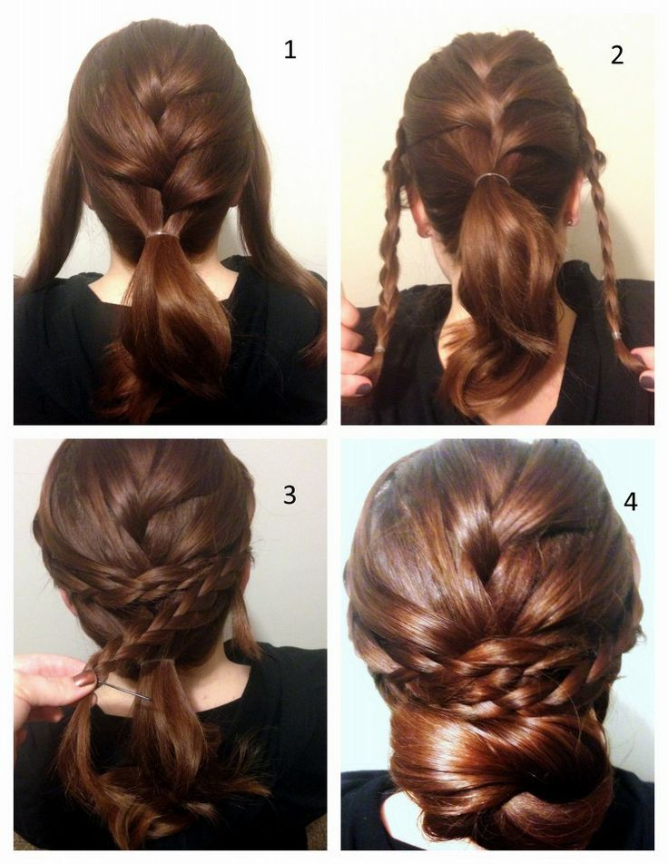 Drawn braid binibining On Updo With Braided Fabulous