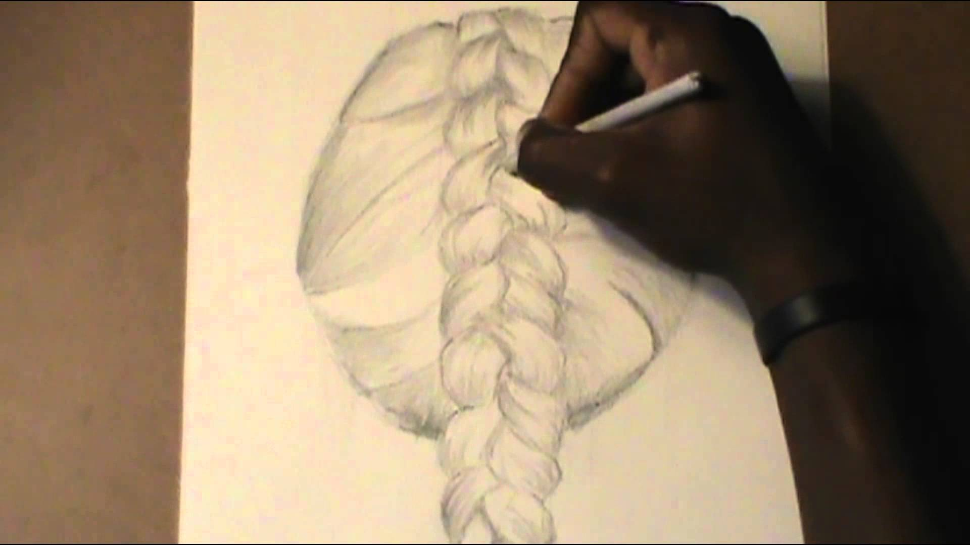Drawn braid binibining Hair Drawing Hair Step: by
