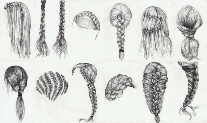 Drawn braid braided hair Braided 1diets Hair Source: Images: