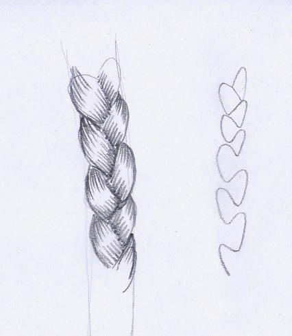 Drawn braid braided hair Drawing Drawing Hair Photo Braided