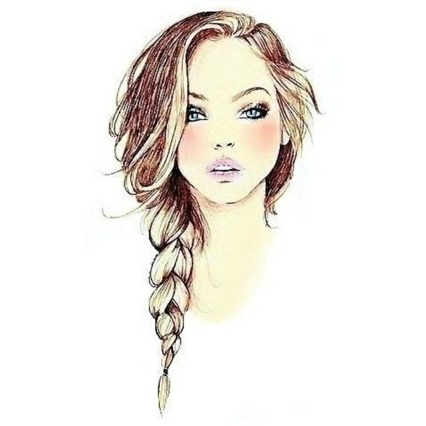 Drawn braid braided hair Drawing Fashionika Hair to Hair