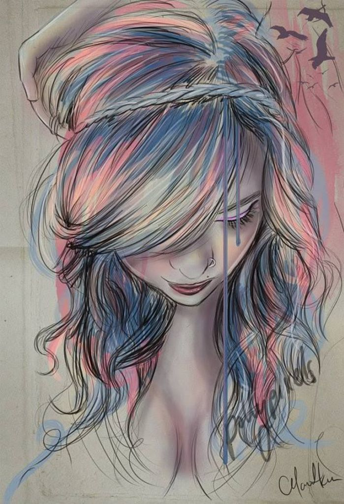 Drawn braid colorful Pinterest on inspiration drawing Drawings