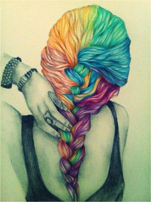 Drawn braid colorful Best images 25 Pinterest diys