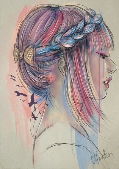 Drawn braid colorful On images drawing and best
