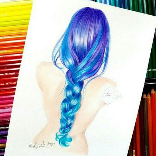 Drawn braid colorful Pinterest colored art braid images