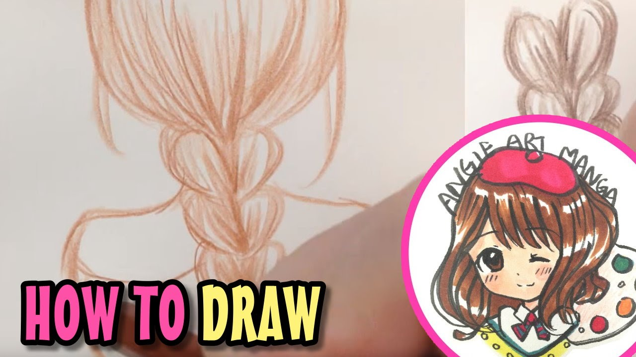 Drawn braid coloring hair How 如何畫頭髮 Braid to 如何畫頭髮