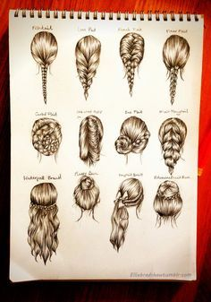 Drawn braid different Pinterest  Drawing 100 best