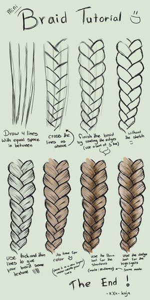 Drawn braid different On Best hair Pinterest Best
