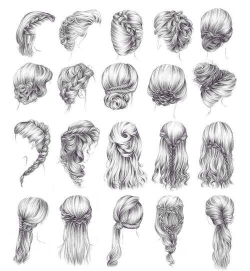Drawn braid different Braid drawing Find and drawing