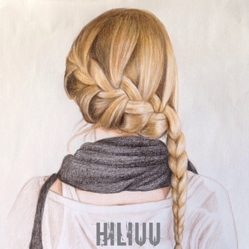 Drawn braid female hair Side waterfall fartsy  with
