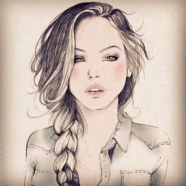 Drawn braid female hair Hair @deathbyhomicide drawing  by