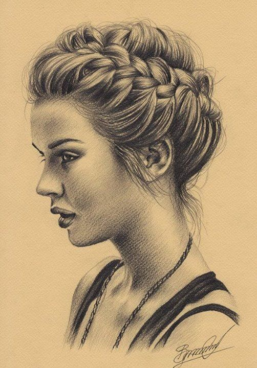 Drawn braid female hair And Pinterest draw to on