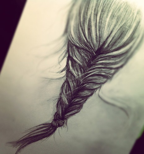 Drawn braid fishtail braid Love Hair of Sketch braid!
