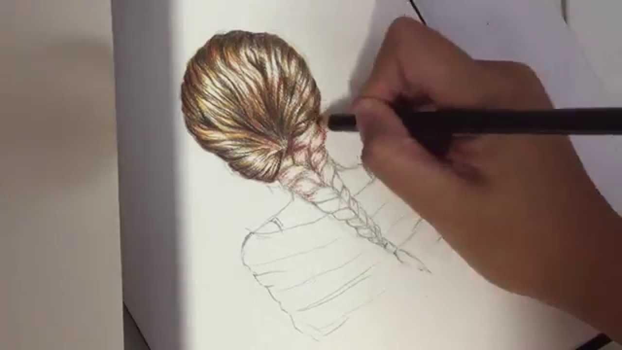 Drawn braid fishtail braid Tutorial) draw How (colour fishtail