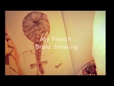 Drawn braid french braid Drawing Braid Drawing Braid French