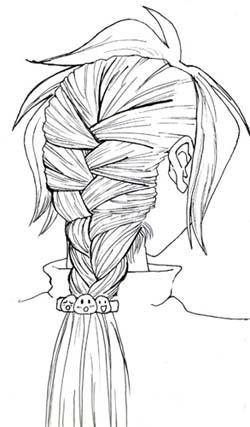 Drawn braid french braid Mid Rows French Almost Tutorials