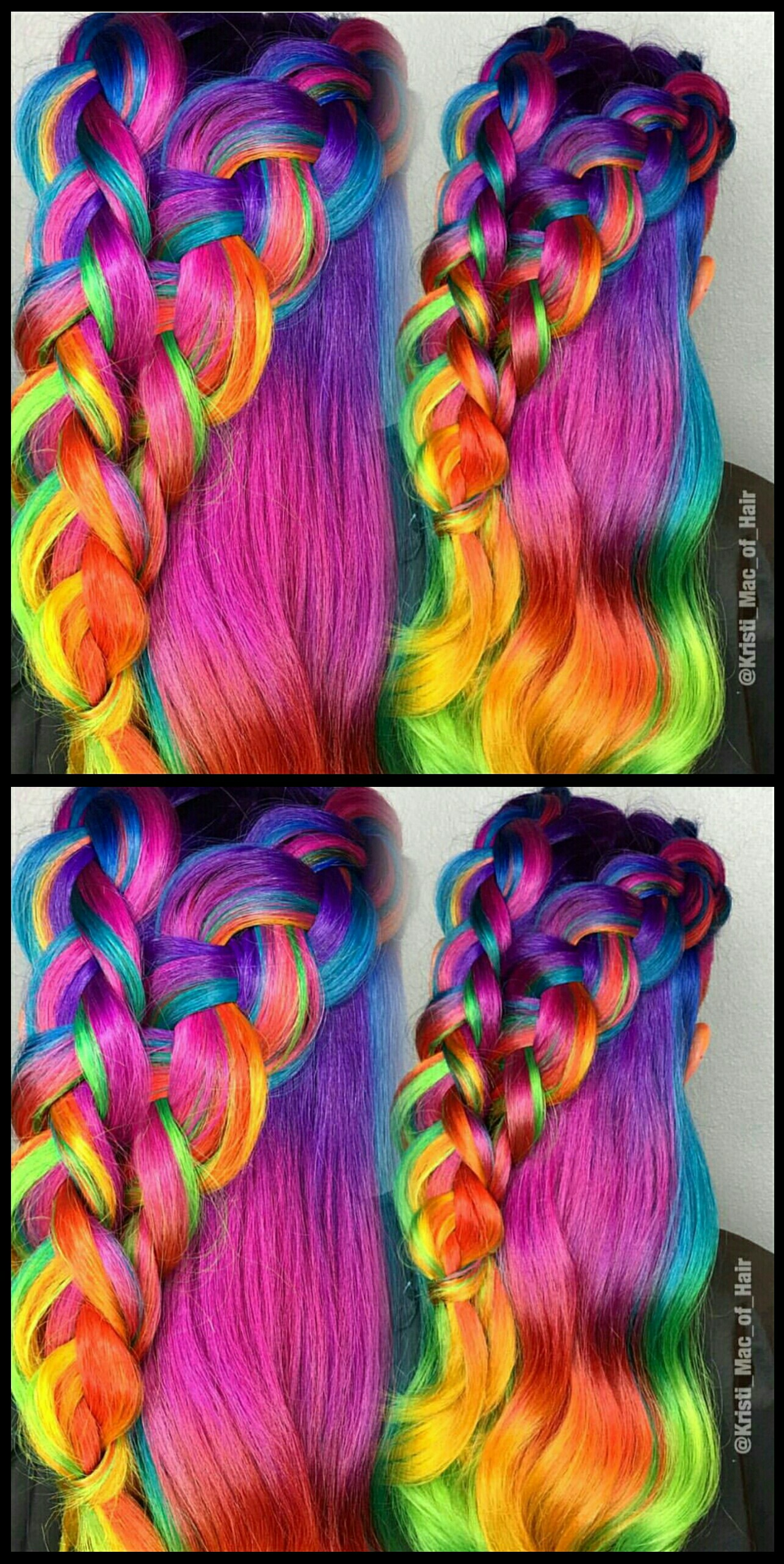 Drawn braid hair colour Color @kristi_mac_of_hair  braided Pink
