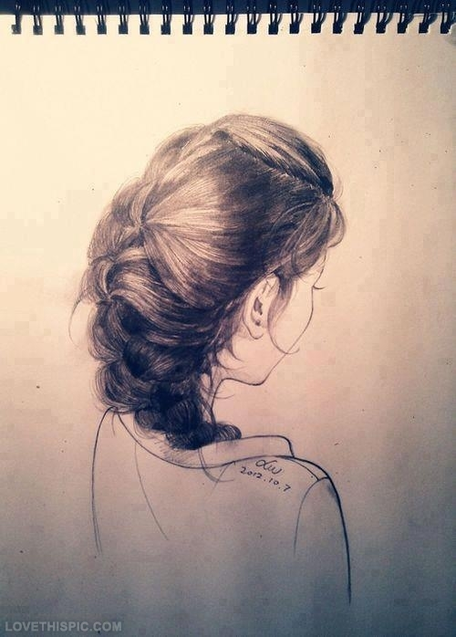 Drawn braid hair colour Cuts hair Sketch hairstyle hair