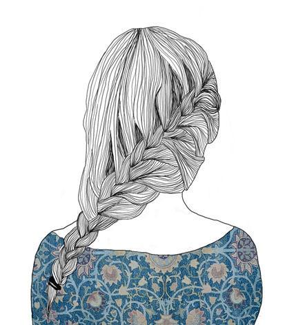 Drawn braid hair plait Beautiful draw draw braid braid