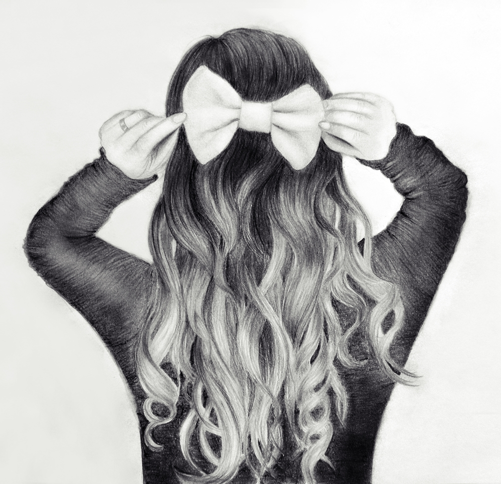 Drawn braid hipster Girl moda Set drawing Buscar