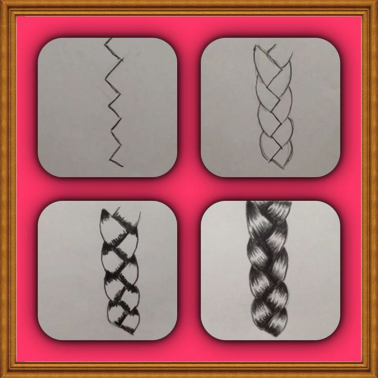 Drawn braid pencil drawing How draw more on best