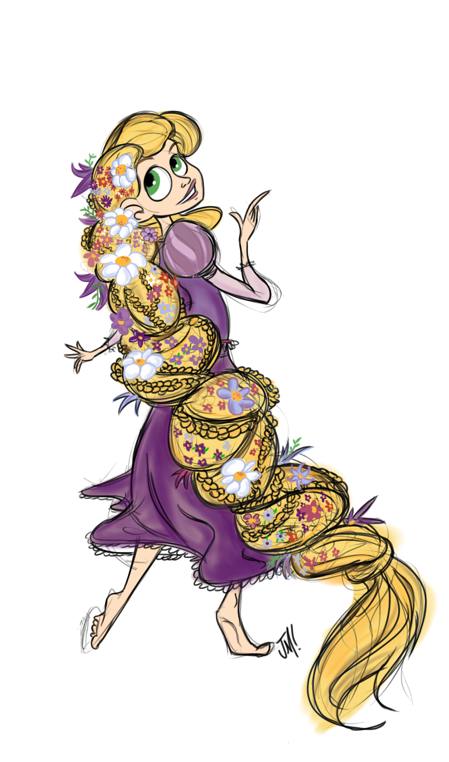 Drawn braid rapunzel Miranda by Rapunzel Jose DeviantArt