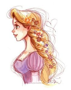Drawn braid rapunzel Pinterest rapunzel Drawing Child and