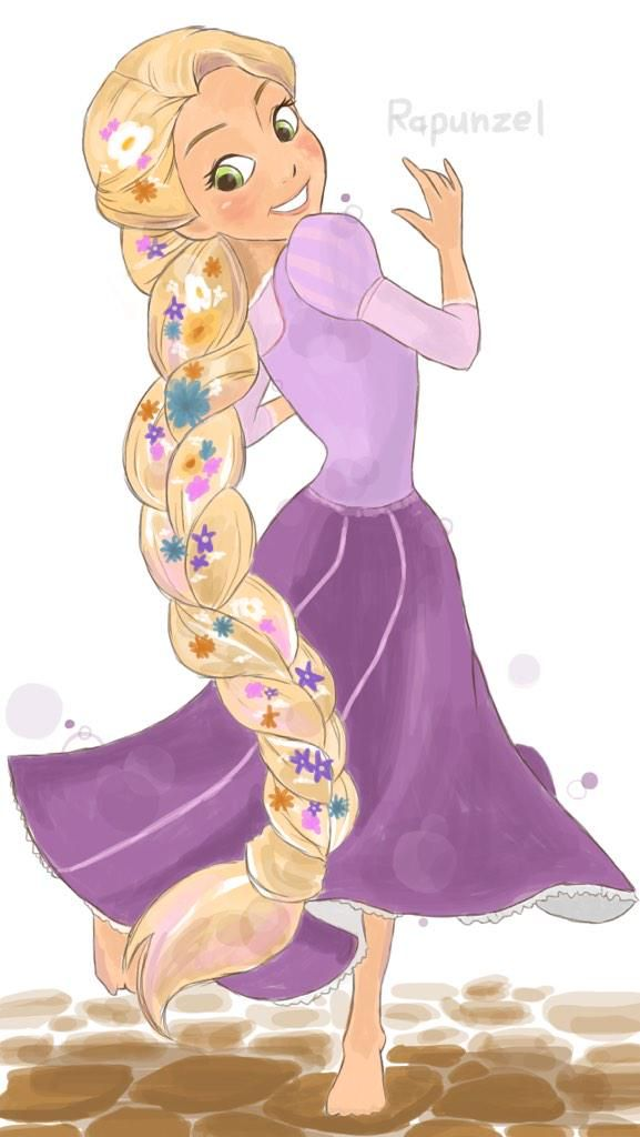 Drawn braid rapunzel Disney Rapunzel this and images