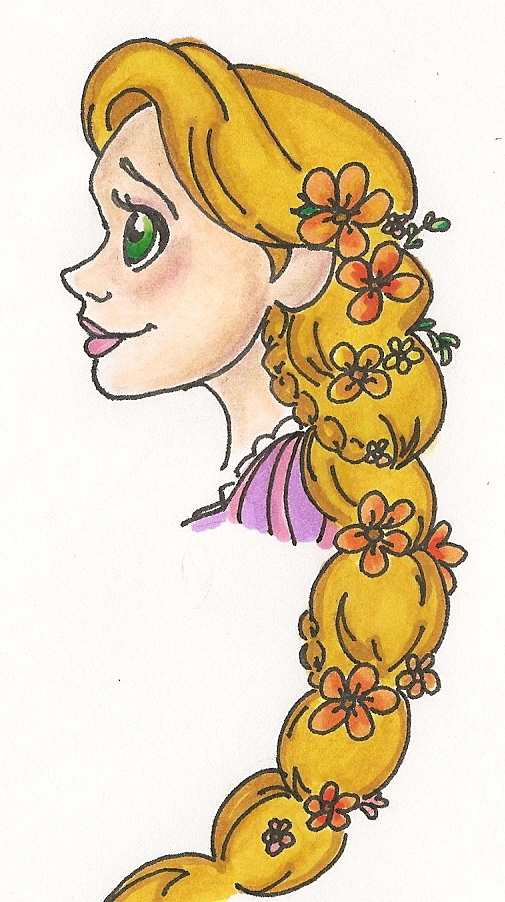 Drawn braid rapunzel SarcasticLeaves Braided SarcasticLeaves DeviantArt by