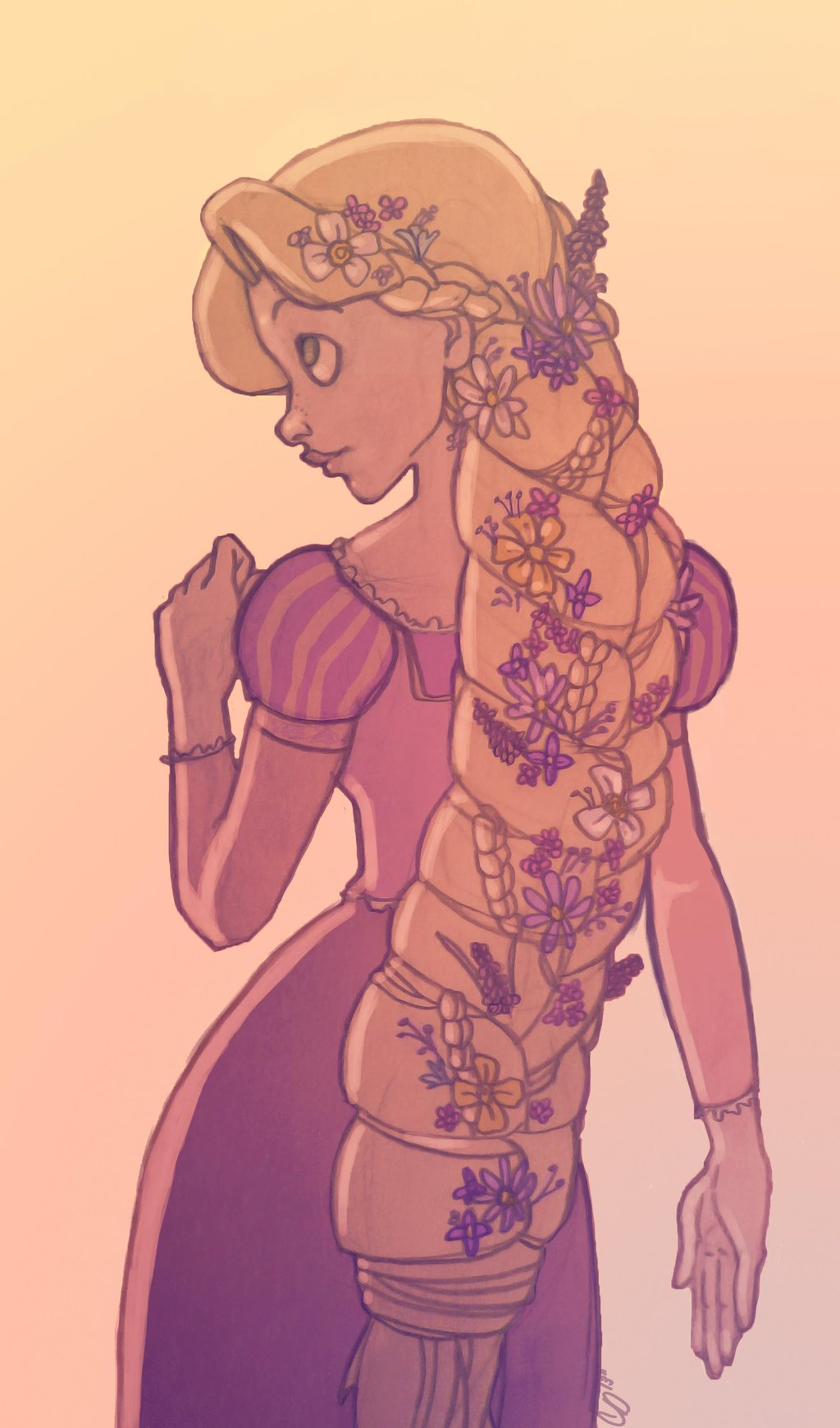 Drawn braid rapunzel Information And Quasimodo Rapunzel Rapunzel