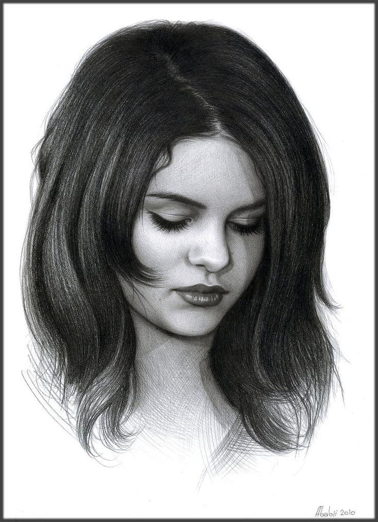 Drawn braid selena gomez Selena pencil images Portrait paper