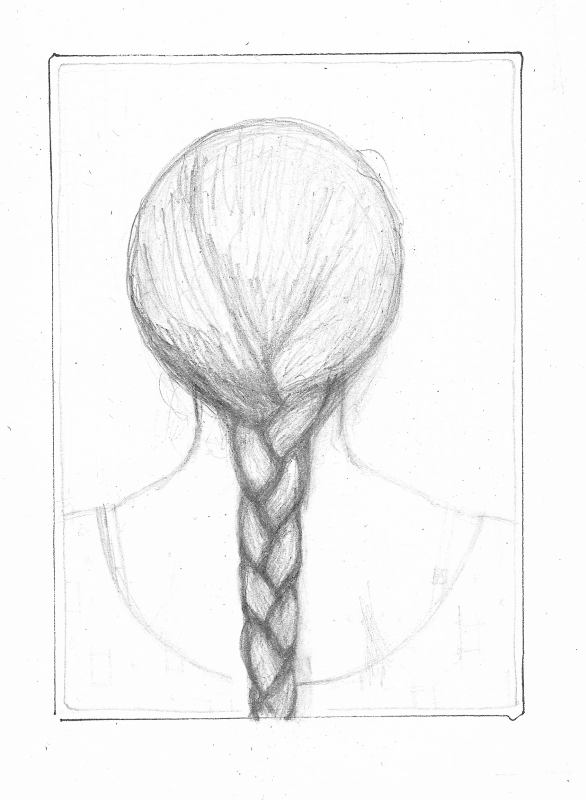 Drawn braid simple This scale A4 from paper