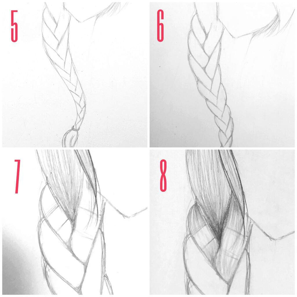 Drawn braid simple A Tutorial Anime work lot