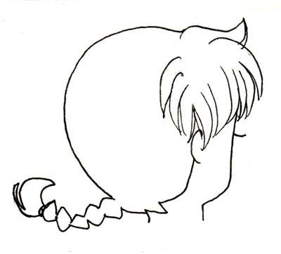 Drawn braid simple Type Tutorials Ranma Braid Manga
