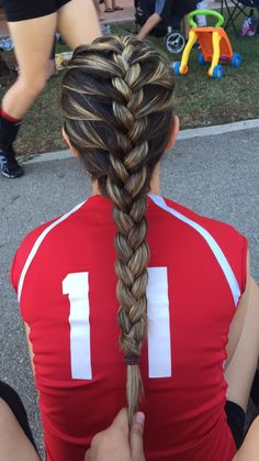 Drawn braid sporty French for Inspo Hair Out