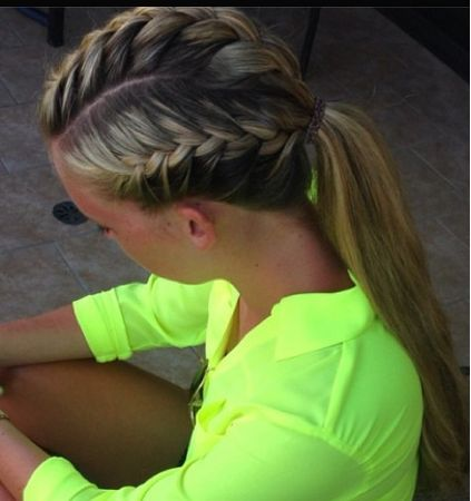 Drawn braid sporty 16 Volleyball Ponytails Summer This