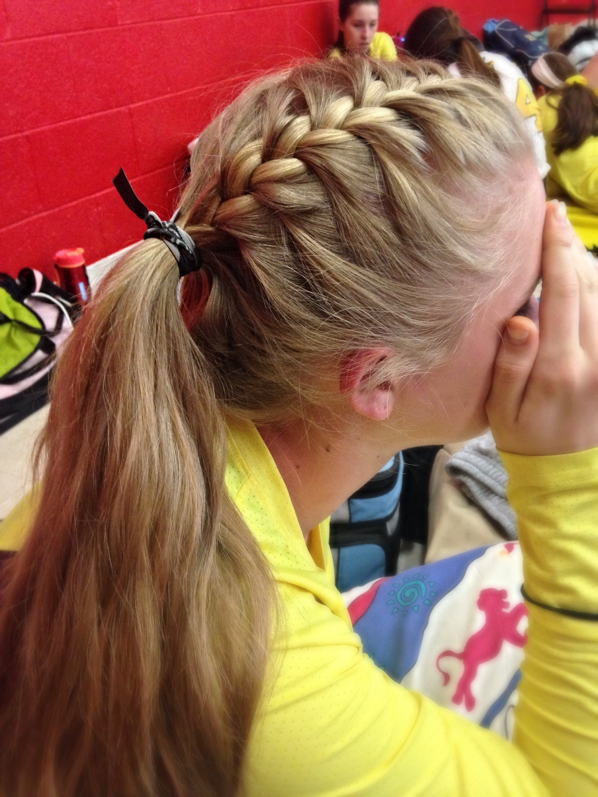 Drawn braid sporty Find Pin Sporty hair Volleyball