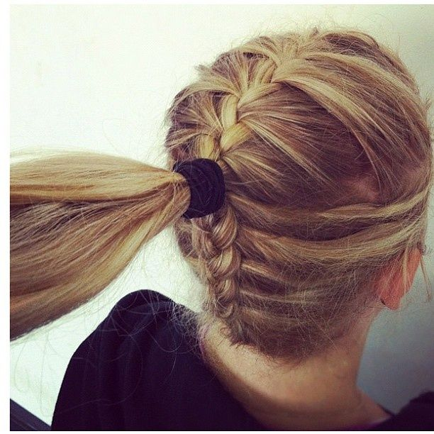 Drawn braid sporty Ponytail 25+ Braided Pinterest ideas