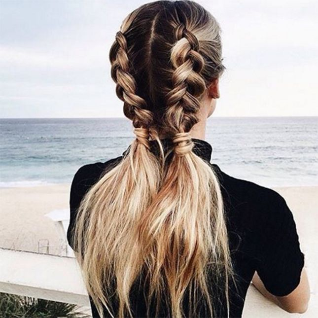 Drawn braid sporty Hair Braided buns Wear to
