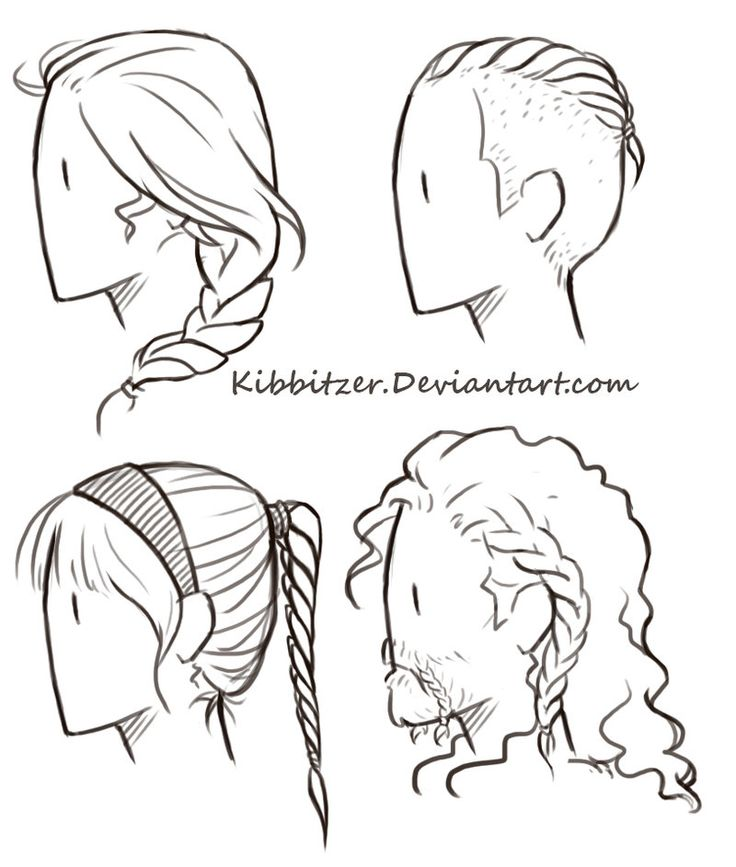 Drawn braid twin Hair  on Kibbitzer reference