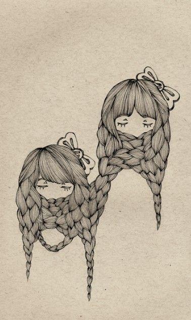 Drawn braid twin Best on more braid drawing