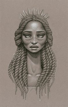 Drawn braid twist Black art black american