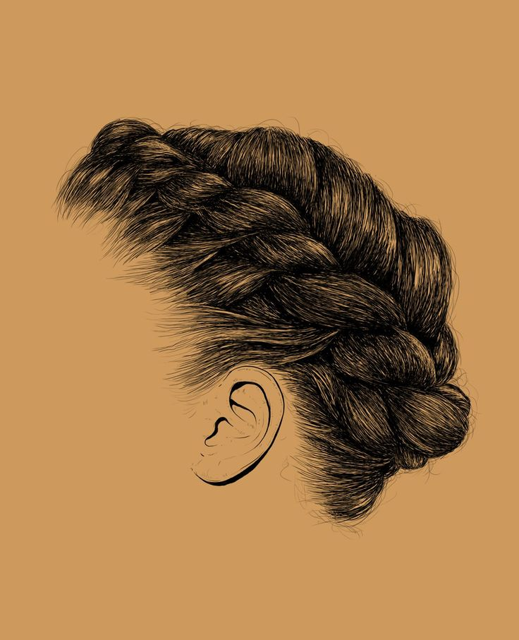 Drawn braid twist Drawing hair Drawing Drawing Pinterest
