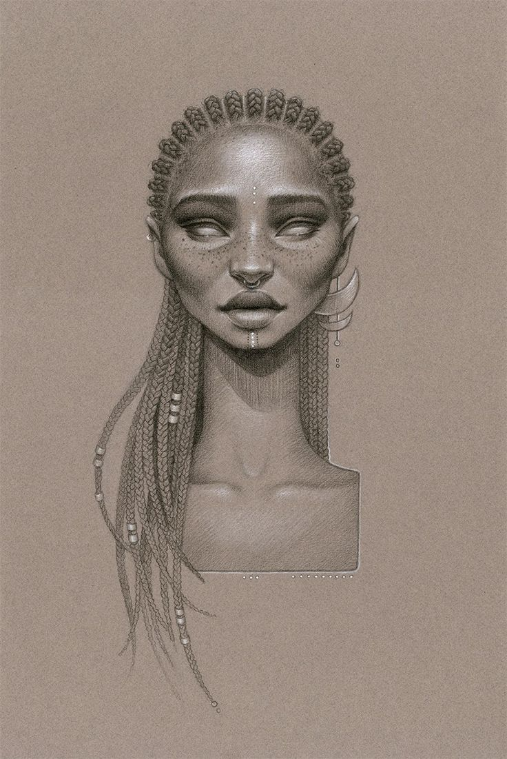 Drawn braid twist Women vintage Cleopatra art Pinterest