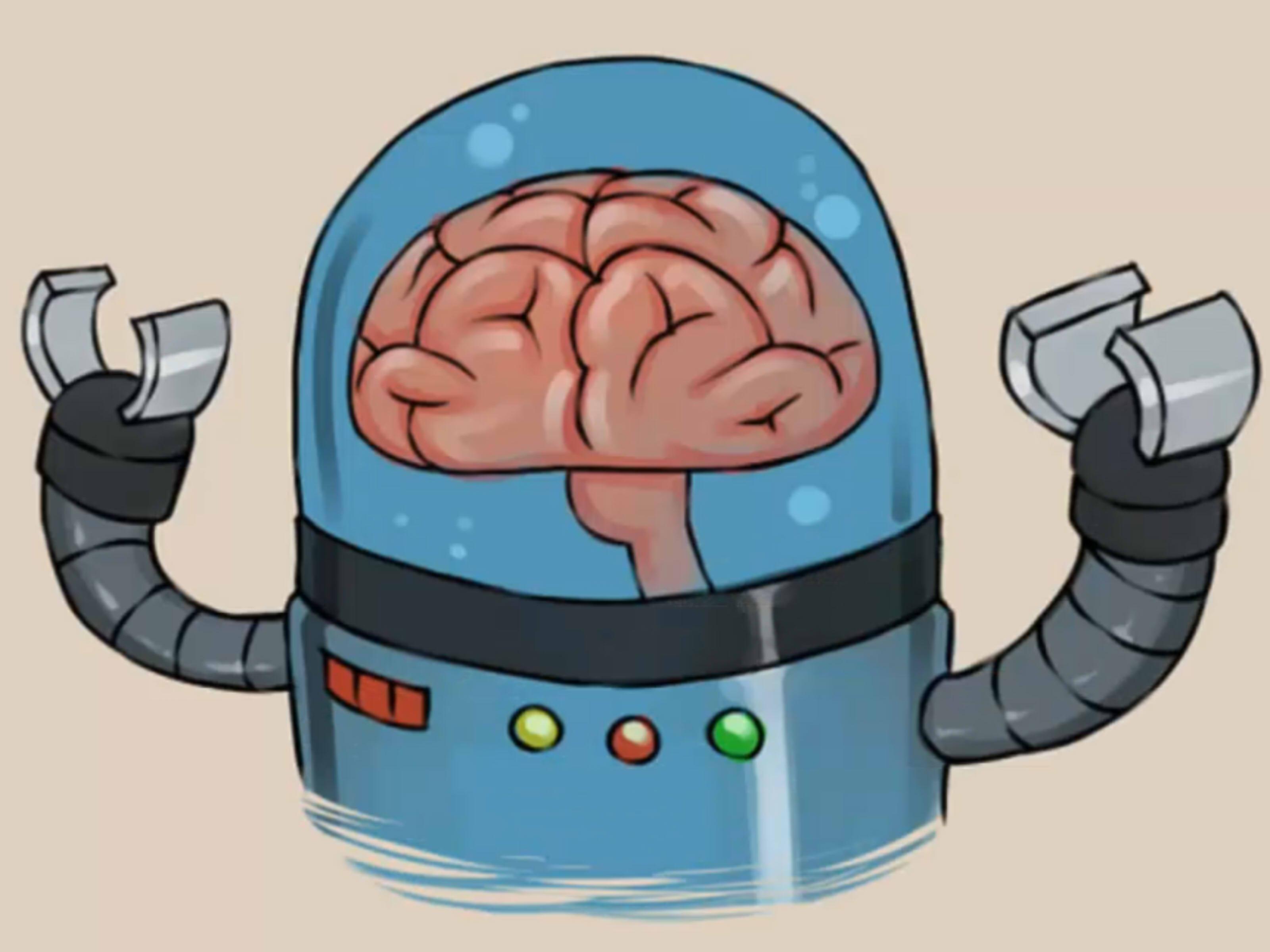 Drawn brains funny cartoon A Ways  Draw wikiHow