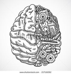 Drawn brain art #8