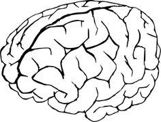 Drawn brain coloring page #8