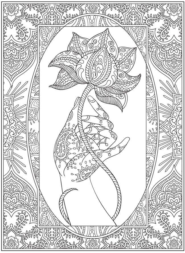 Drawn brain coloring page #15