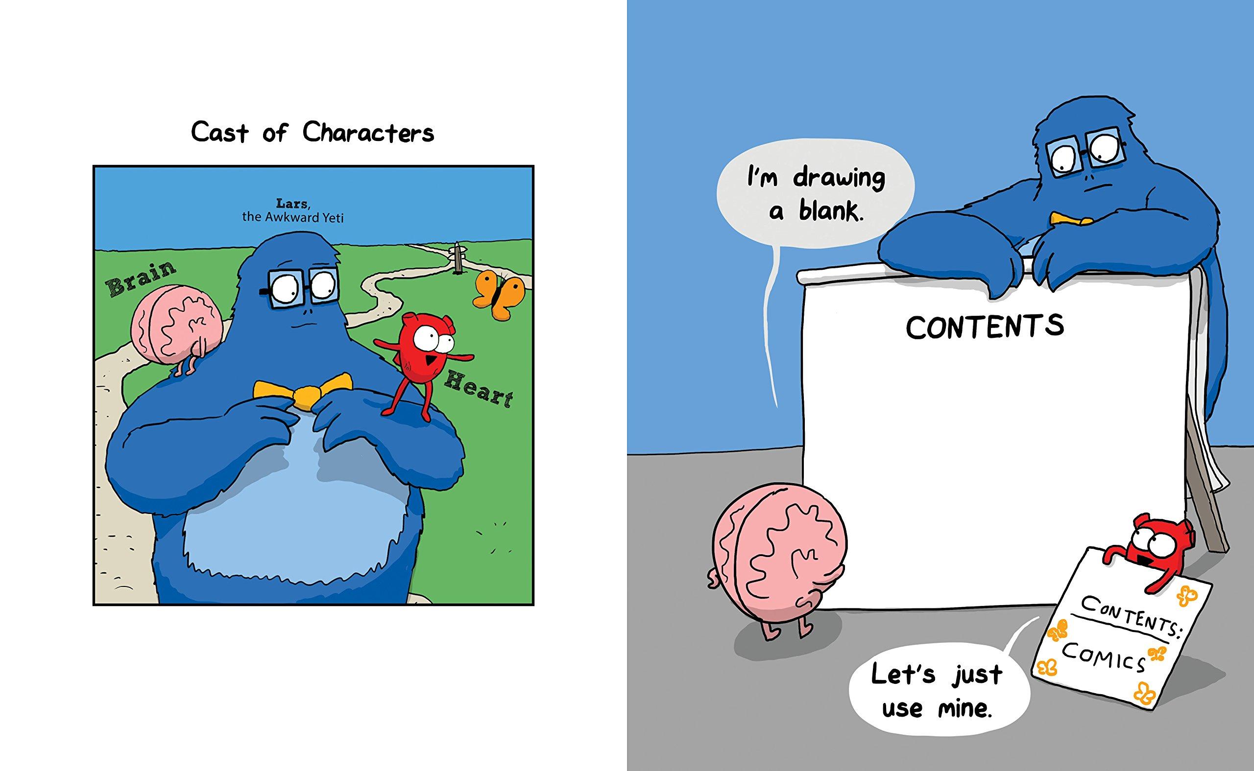 Drawn brain comic Com: Awkward An Yeti 0050837347786: